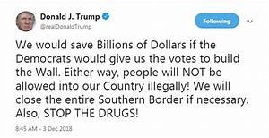 Trump threatens Democrats over his border wall despite ...