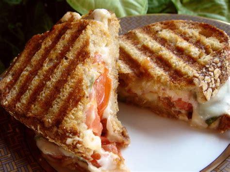 caprese panini caprese panini mozzarella tomatoes and basil recipe food com