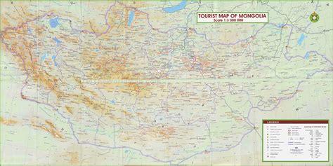 mongolia tourist map