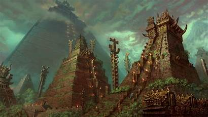 Aztec Wallpapers Calendar Temples Fantasy Temple Background