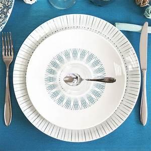 Assiette Bleu Canard : assiette plate porcelaine 27cm vaisselle chic bruno evrard ~ Teatrodelosmanantiales.com Idées de Décoration