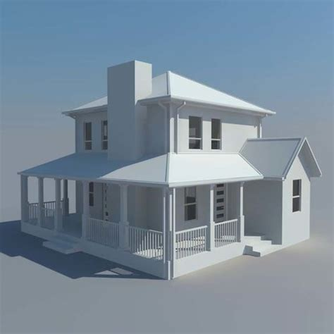 3d Model House Building Residential  Cgtrader