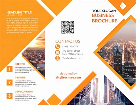 Tri Fold Brochure Template Powerpoint Awesome Tinyppt ...
