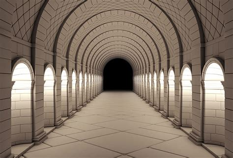 shop vintage column tunnel wallpaper   theme