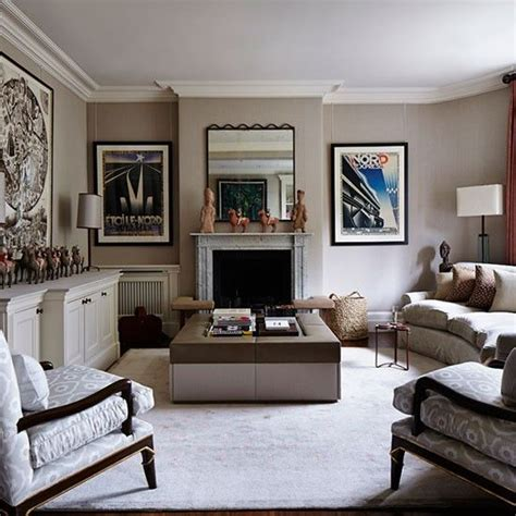 Elegant Grey And Taupe Living Room  Living Room