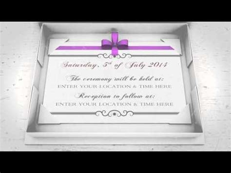 wedding invitation announcement after effects project files videohive 6611889 youtube