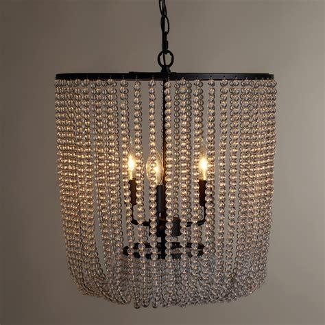 clear bead chandelier world market
