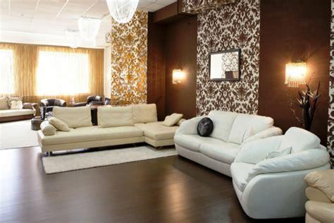 Wohnzimmer Braune Wand by 150 Coole Tapeten Farben Ideen Teil 1