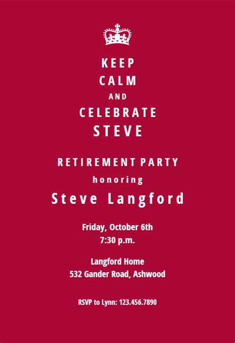 chapter retirement farewell party invitation