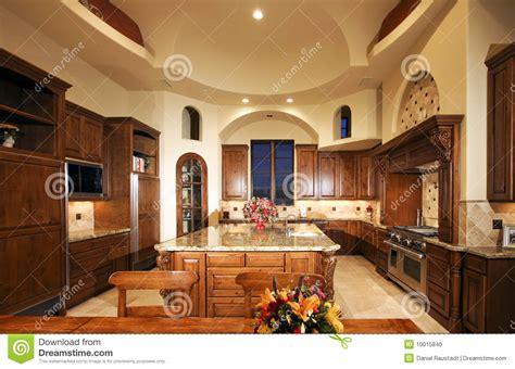 huge  mansion home kitchen stock photo image