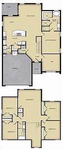 5 BR, 2 5 BA, 2 Story Floor Plan House Design for Sale