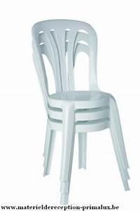 Chaise Blanche Plastique : chaise plastique type bistro blanche destockage grossiste ~ Teatrodelosmanantiales.com Idées de Décoration
