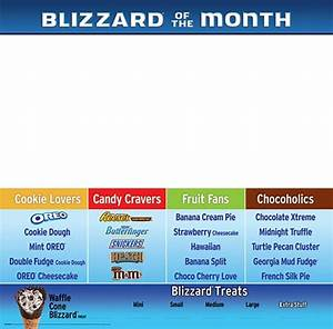 Regular Blizzard flavor menu - featuring a new Blizzard ...