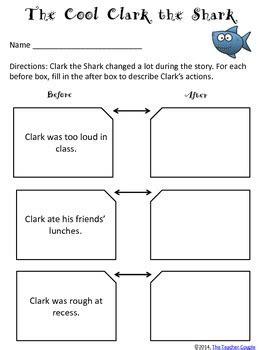 clark  shark reading  writing activities