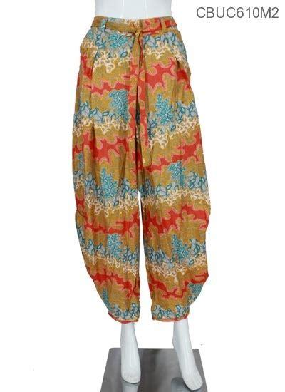 celana balon motif daun celana rok muslim murah