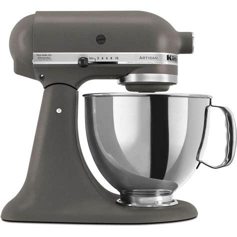 kitchenaid mixer artisan stand grey quart qt imperial series head tilt gray lowes countertop mixers glass sea speed walmart passion