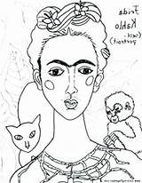 Coloring Portrait Self Pages Famous Paintings Getcolorings Printable sketch template