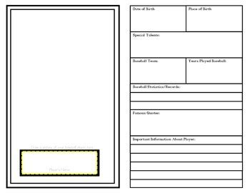 You need to measure it out in. Baseball Card Size Template