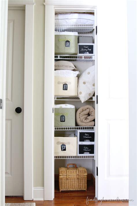 Small Narrow Closet Organization Ideas by Tips For Organizing A Small Linen Closet Organized
