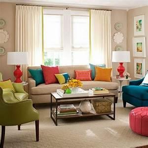 Deco Multicolore : d co salon multicolore ~ Nature-et-papiers.com Idées de Décoration