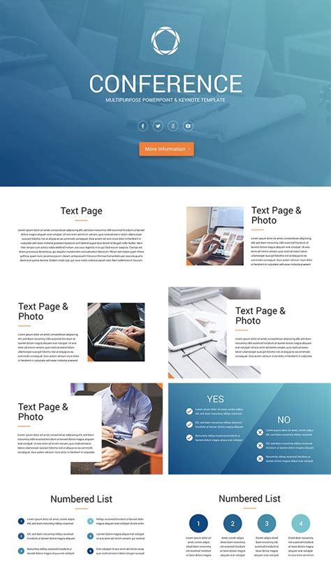 Conference Presentation Template Ppt by 25 Free Professional Ppt Templates For Project Presentations