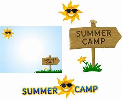 Camp Summer Clip Clipart Camps Border Borders