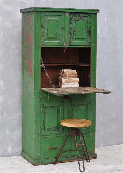 bureau original rustic vintage bureau cabinet original green