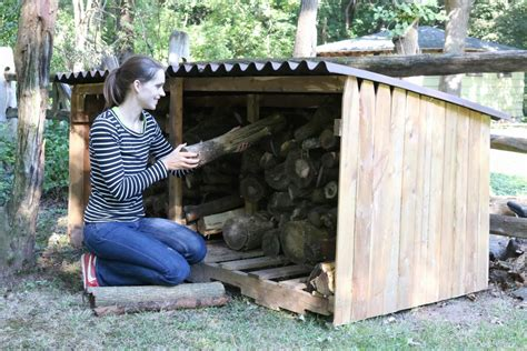 How To Build A Boat Storage Shed by How To Build An Outdoor Firewood Storage Shed How Tos Diy
