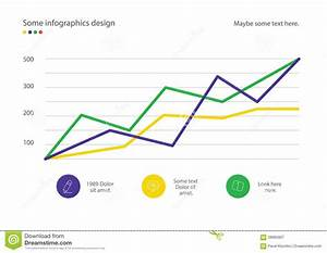 Infographic Line Diagram Or Graph Design With Percent