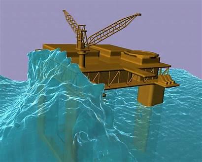 Platform Rogue Wave Oil Waves Semi Submersible