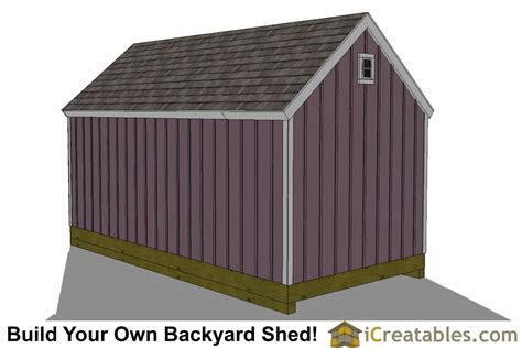 10x24 colonial garden shed plans