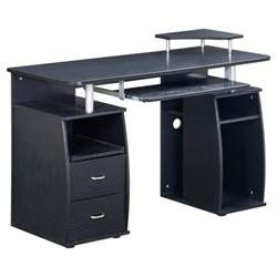 complete computer workstation desk with storage techni