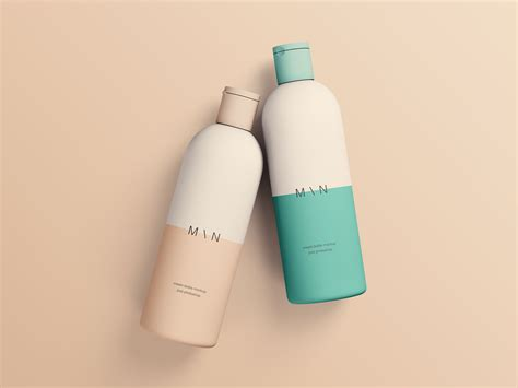 — highlights and shadows (editable via levels, exposure or any other ps tools). Cosmetic Bottles Mockup