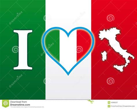 italy italien landkarte flagge aufkleber ich liebe italien flagge stock abbildung bild 42680337 ital
