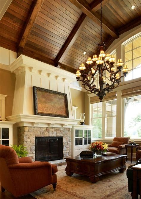 great room  wood paneled ceiling culture scribe