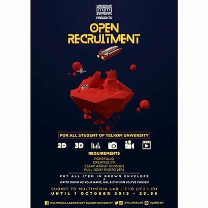 Poster Recruitment Open Multimedia Behance Laboratory Project