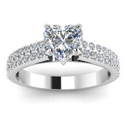 solitaire engagement rings with band firstlove88 the heartshape ring