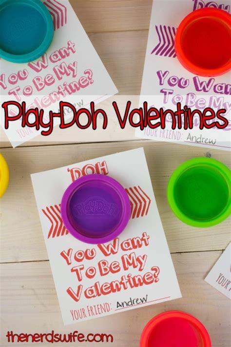 14 free printable classroom valentines thesuburbanmom 726   Play Doh Valentines