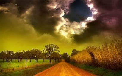 Wallpapers Clouds Storm Landscape Field Corn Amazing