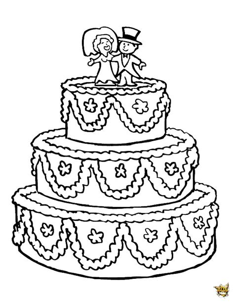 jouer a des jeux de cuisine un gâteau de mariage à colorier et à imprimer