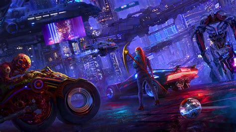 cyberpunk  newart hd games  wallpapers images