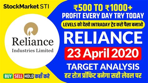 Quicklinks for reliance industries ltd. 23 April share price Reliance | reliance share news | RELIANCE stock | reliance share intraday ...