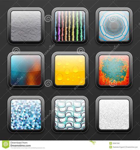 background   app icons set stock photography image