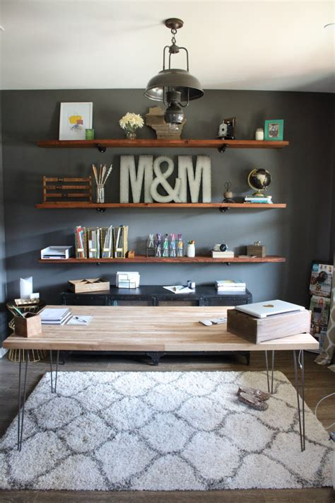 office shelving ideas diy industrial wood office shelving modish main