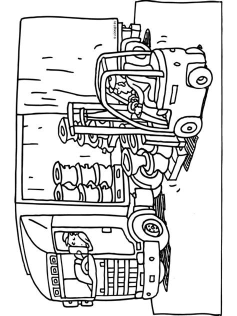 Kleurplaten Vrachtwagen Met Kraan by Kleurplaat Vrachtwagen Transport Laden Lossen