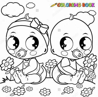 Coloring Pages Newborn Babies Template Colouring Stroller
