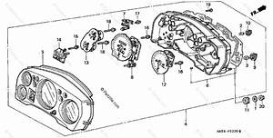 Honda Motorcycle 1998 Oem Parts Diagram For Speedometer