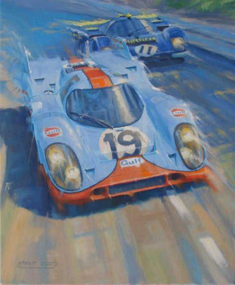 porsche 917 art auto racing art porsche 917 ferrari 512 original painting
