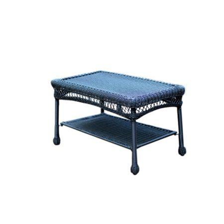East at main tyler tan natural fiber. Jeco Black Wicker Patio Furniture Coffee Table - Walmart.com