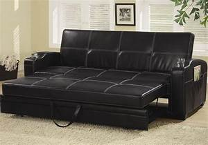 contemporary living room pull out sleeper sofa bed futon With faux leather pull out sofa bed